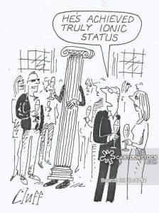 Ionic Statues Cartoon